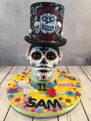 Mexican Day of the Dead Cake - Cake by Dinkylicious Cakes