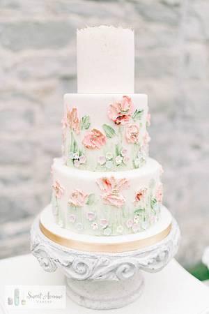 Romantic pastel floral wedding cake - Sweet Avenue Cakery - Cake by Sweet Avenue Cakery