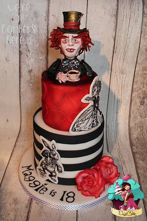 Mad Hatter - Cake by DusiCake