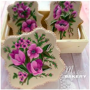"""Floral cookies - Cake by Nadia """"My Little Bakery"""""""