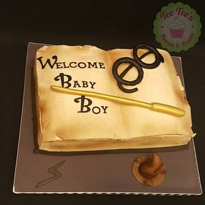 Harry Potter baby shower cake - Cake by Tee Tee's Sweets