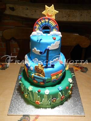 Rainbow colorful cake - Cake by Francesca Liotta