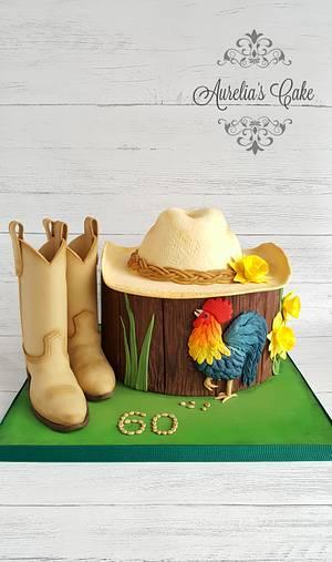 Cowboy cake - Cake by Aurelia's Cake