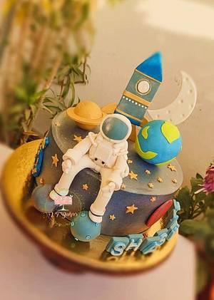Space theme cake - Cake by Arti trivedi