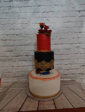 Pearl wedding Cake - Cake by Dr RB.Sudha