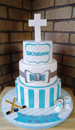 Giovanni's Baptism - Cake by Enza - Sweet-E
