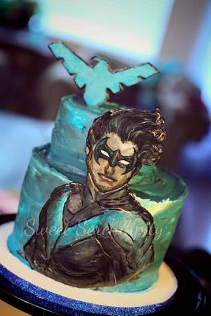 Nightwing - Cake by Sweet Serendipity by Sheila