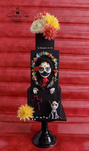 La Catrina - Sugar Skull Bakers 2016 - Cake by Sweet Side of Cakes by Khamphet