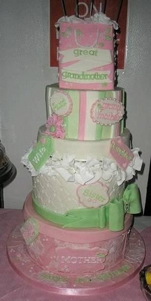 Happy 80th Birthday Mum - Cake by Mrsmac63