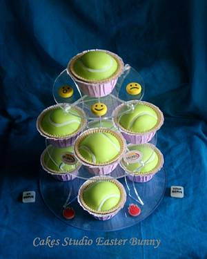 Tennis balls cupcakes. - Cake by Irina Vakhromkina