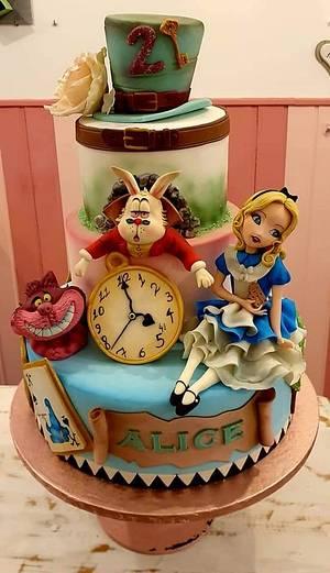 Alice nel Paese delle meraviglie  - Cake by Sara Stefanelli