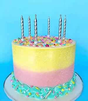 Ombré Pastel Buttercream Cake  - Cake by Buttercut_bakery