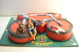 Bike cake - Cake by Aurelia'sTartArt