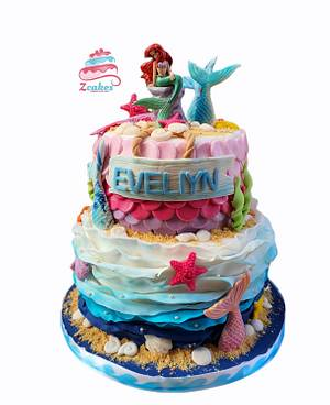 Mermaid cake🧜♀️ - Cake by Zcakes