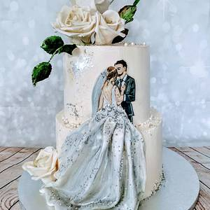 Painted wedding - Cake by alenascakes