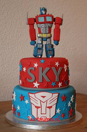 Transformer - Optimus Prime - Cake by Taartmama
