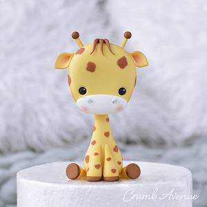 Baby Giraffe Cake Topper - Cake by Crumb Avenue