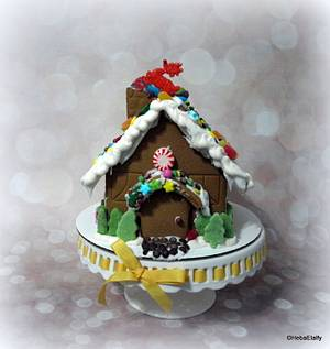 Christmas Cottage (Deck The Halls collaboration) - Cake by Sweet Dreams by Heba