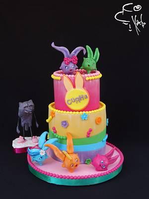 Sunny Bunnies - Cake by Diana