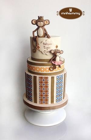 little monkey's baptism cake! - Cake by Mnhammy by Sofia Salvador