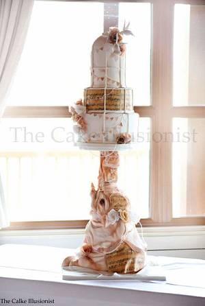 Vintage elephant & Birdcage Wedding  - Cake by Hannah