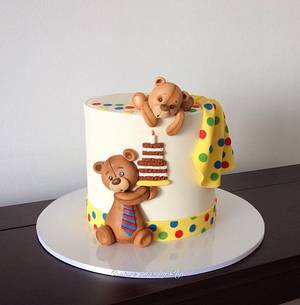 Teddies cake - Cake by Couture cakes by Olga