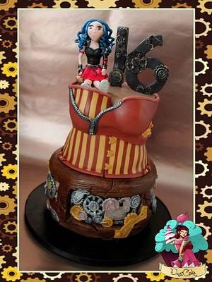SteamPunked x - Cake by DusiCake