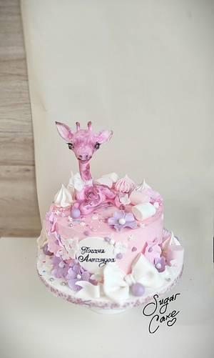 Pink giraffe  - Cake by Tanya Shengarova