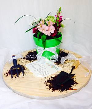 Flower Pot Cake  - Cake by Cake'D By Niqua