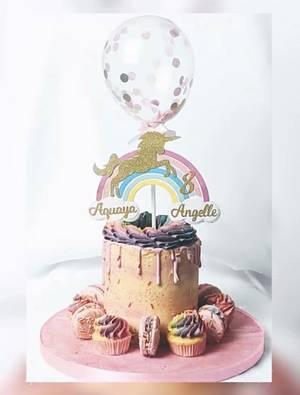 Rainbow unicorn cake  - Cake by Anita's Cake Bakery