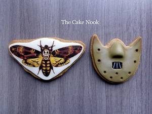 🦋 The Silence Of The Lambs Cookies 🦋 - Cake by Zoe White