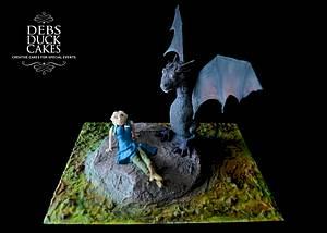 GoT Daenerys & Dragon Cake - Cake by DebsDuckCakes