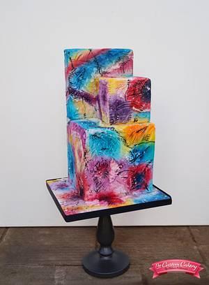 Kandinsky Inspired - Sugar Art Museum  - Cake by The Custom Cakery