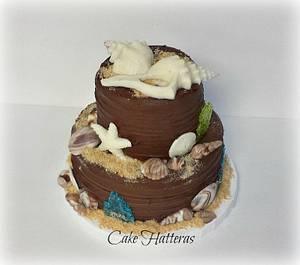 All Chocolate Wedding Cake - Cake by Donna Tokazowski- Cake Hatteras, Hatteras N.C.