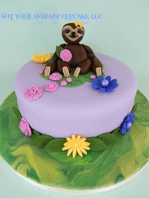 Sweet Sloth Baby Shower Cake - Cake by Sharon A./Not Your Average Cupcake