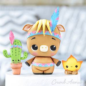 Horse, Cactus & Fire Cake Toppers - Cake by Crumb Avenue