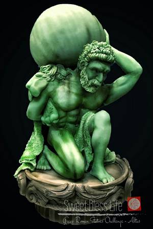 Greco Roman Statue Challenge - Altas - Cake by Maggie Chan