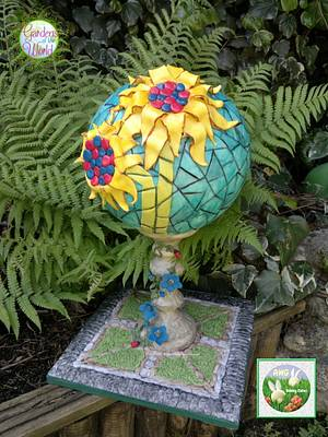 Sunflower-Gardens of the World collaboration  - Cake by AWG Hobby Cakes