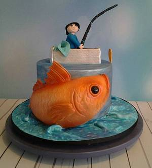 My son the fisherman - Cake by Grans Cakes