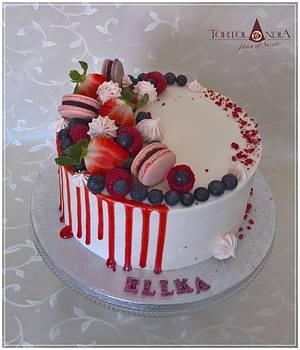 Drip cake for Ellka - Cake by Tortolandia