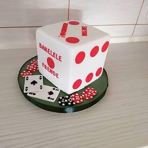 Poker cube cake - Cake by Tortalie