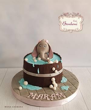 Cute elephant  - Cake by mona ghobara/Bonboni Cake