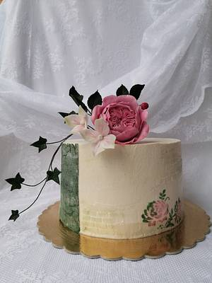 Vintage with David Austin 🌹 - Cake by Daphne
