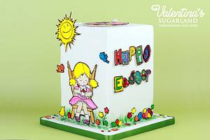 Easter Coloring Book Cake - Cake by Valentina's Sugarland