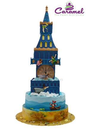Peter Pan flies by Big Ben - Cake by Caramel Doha