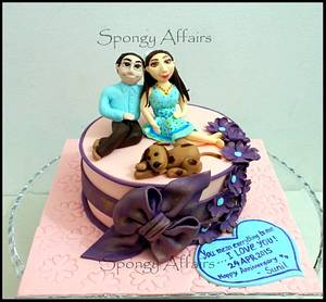 Wedding Anniversary Gift cake! - Cake by Meenakshi Jamadagni