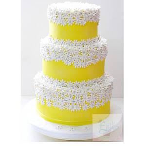 Yellow daisy cake!  - Cake by sophia haniff