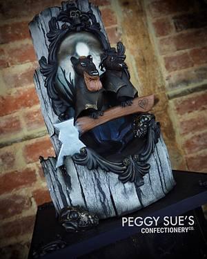 Gothic Wedding Cake - Cake by PeggySuesCC