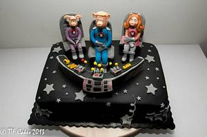 Pigs in Space: back to Muppets and it is time to play the music - Cake by TTFCakes