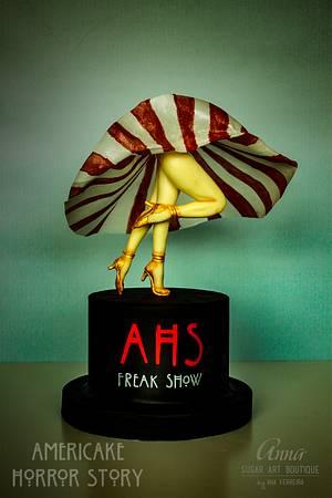 Freak Show - Americake Horror Story Collaboration - Cake by Anna Sugar Art Boutique